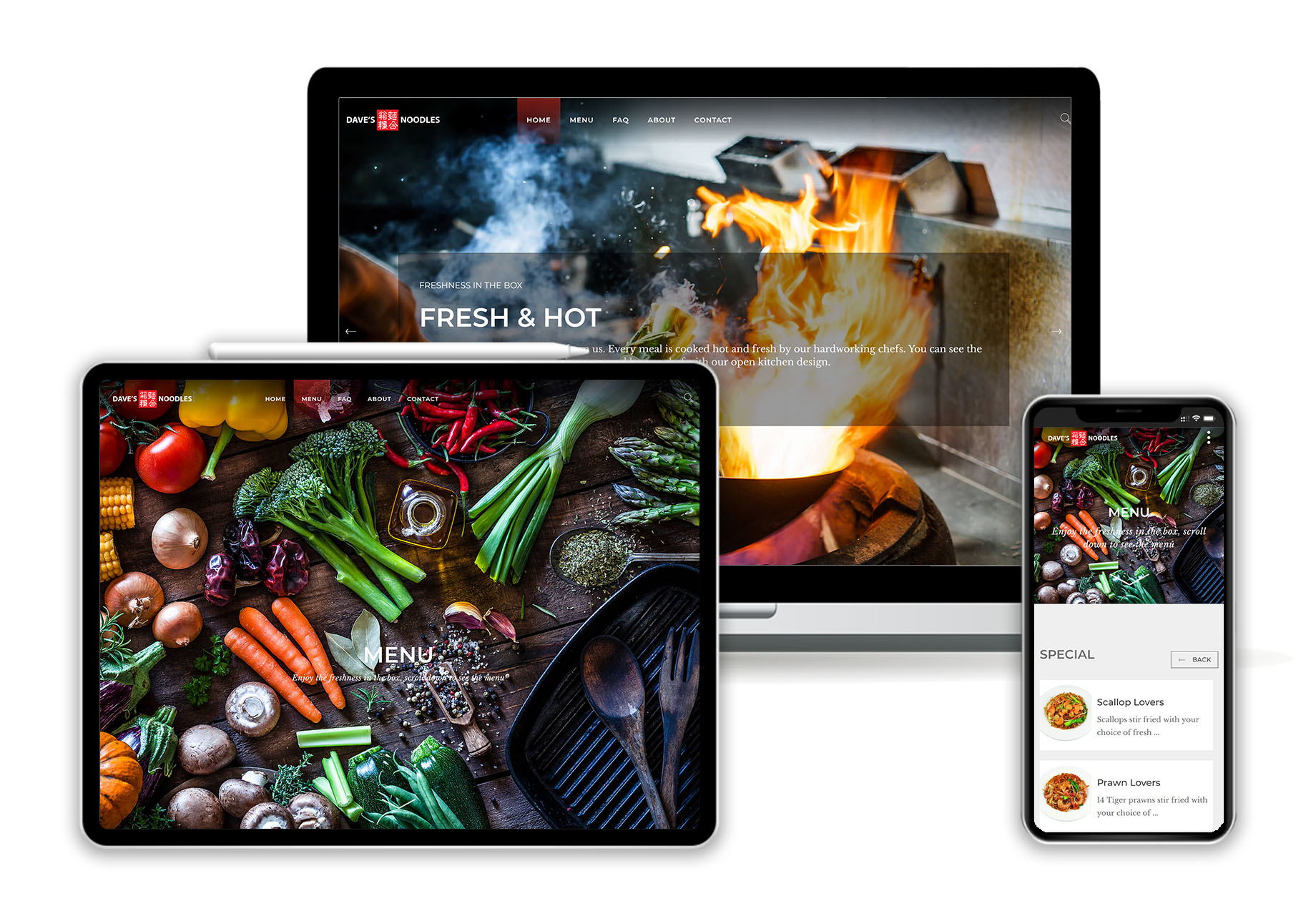 Daves noodles responsive